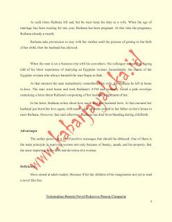 Contoh Resensi Novel Pudarnya Pesona Cleopatra Versi Bahasa Inggris dan Terjemahannya