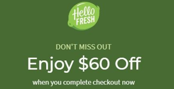 HelloFresh $60 Off, including Free Shipping on First Box