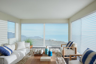The Clearview option on Hunter Douglas Silhouette Shadings provides a superior view to the outside while still maintaining daytime privacy.