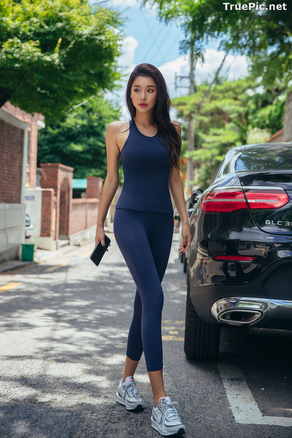 Image Korean Fashion Model - Park Da Hyun - Navy Sportswear - TruePic.net - Picture-10