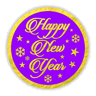 happy new year stickers with pupal background color 2020