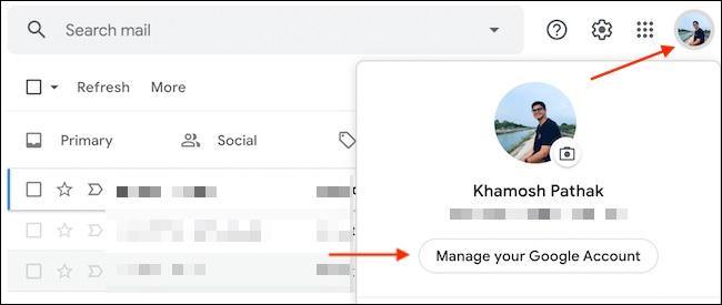 log out gmail di chrome