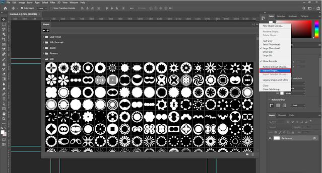إضافة الأشكال داخل برنامج الـ Photoshop