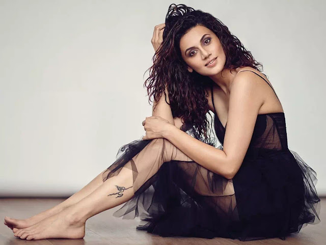 Taapsee Pannu Messy Wet Curls