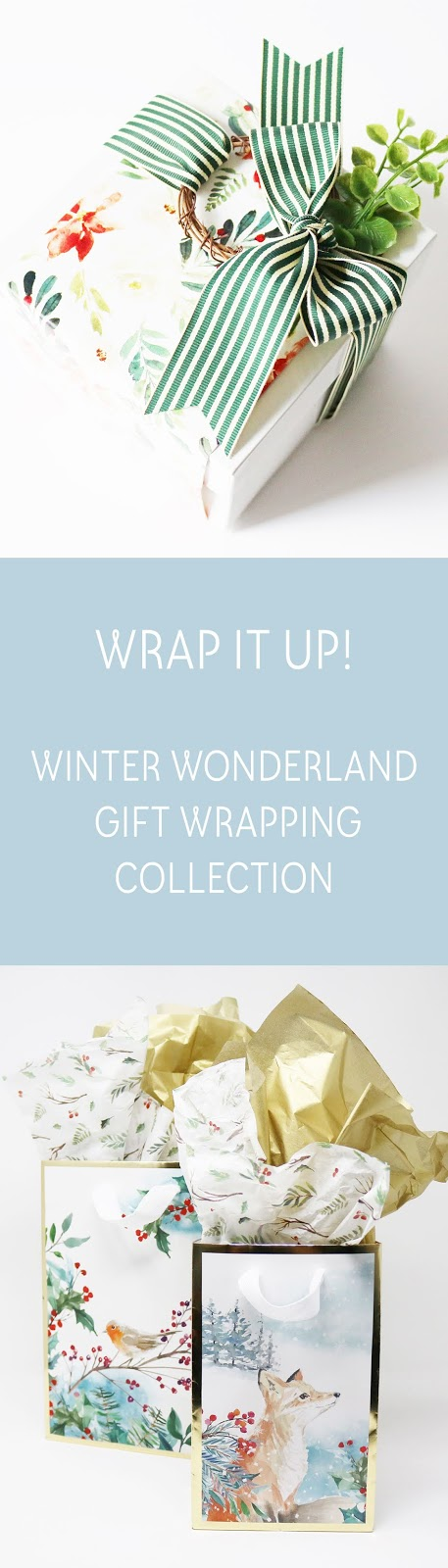 Winter Wonderland Collection - watercolour and woodland friends | creativebag.com