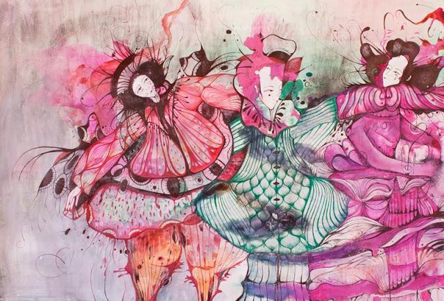 Наивные рисунки акварелью. Estela Cuadro 21