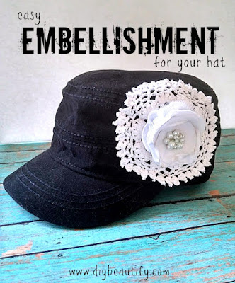 Learn how to create a designer hat with a boutique look for a bargain price! Get the full tutorial, including video, at DIY beautify!