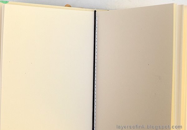 Layers of ink - Heat Embossed Notebook Journal by Anna-Karin. Make signatures.