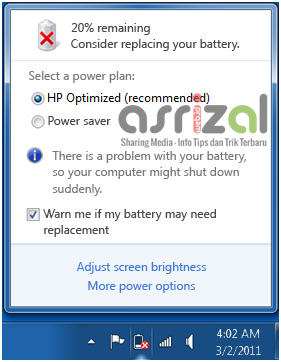 Cara Menghilangkan Consider Replacing Your Battery Pada Windows 7