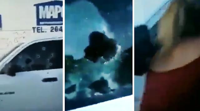 Estremece video de agente tras ser acribillado en su camioneta en Sonora