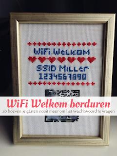 Wifi Welkom borduren