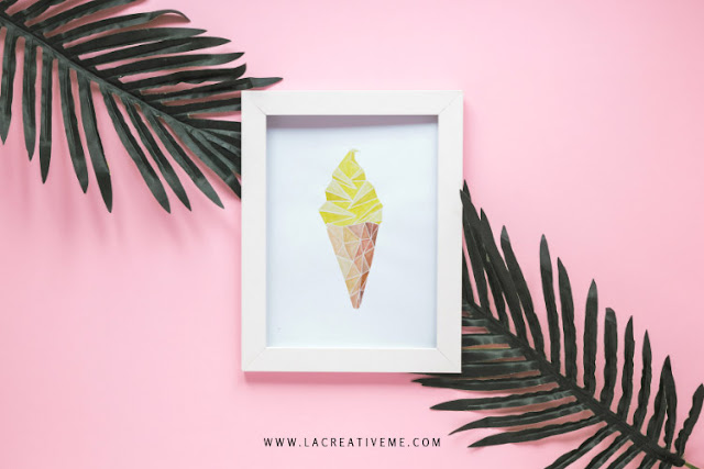 Abstract Ice Cream Painting
