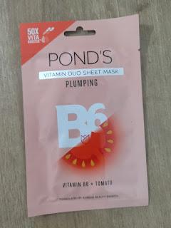 Ponds Vitamin Duo Sheet Mask Plumping
