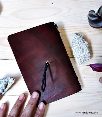 travel jurnal sampul kulit