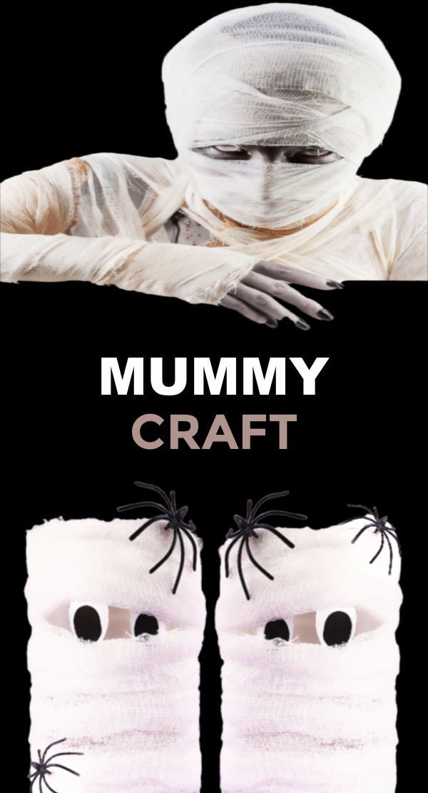 Halloween mummies craft for kids made from cardboard tubes #halloween #cardboardtubecrafts #halloweenmummycraft #growingajeweledrose #activitiesforkids