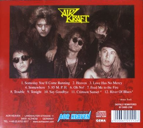 AIRKRAFT - In The Red [AOR Heaven Classix remastered] Out Of Print - back