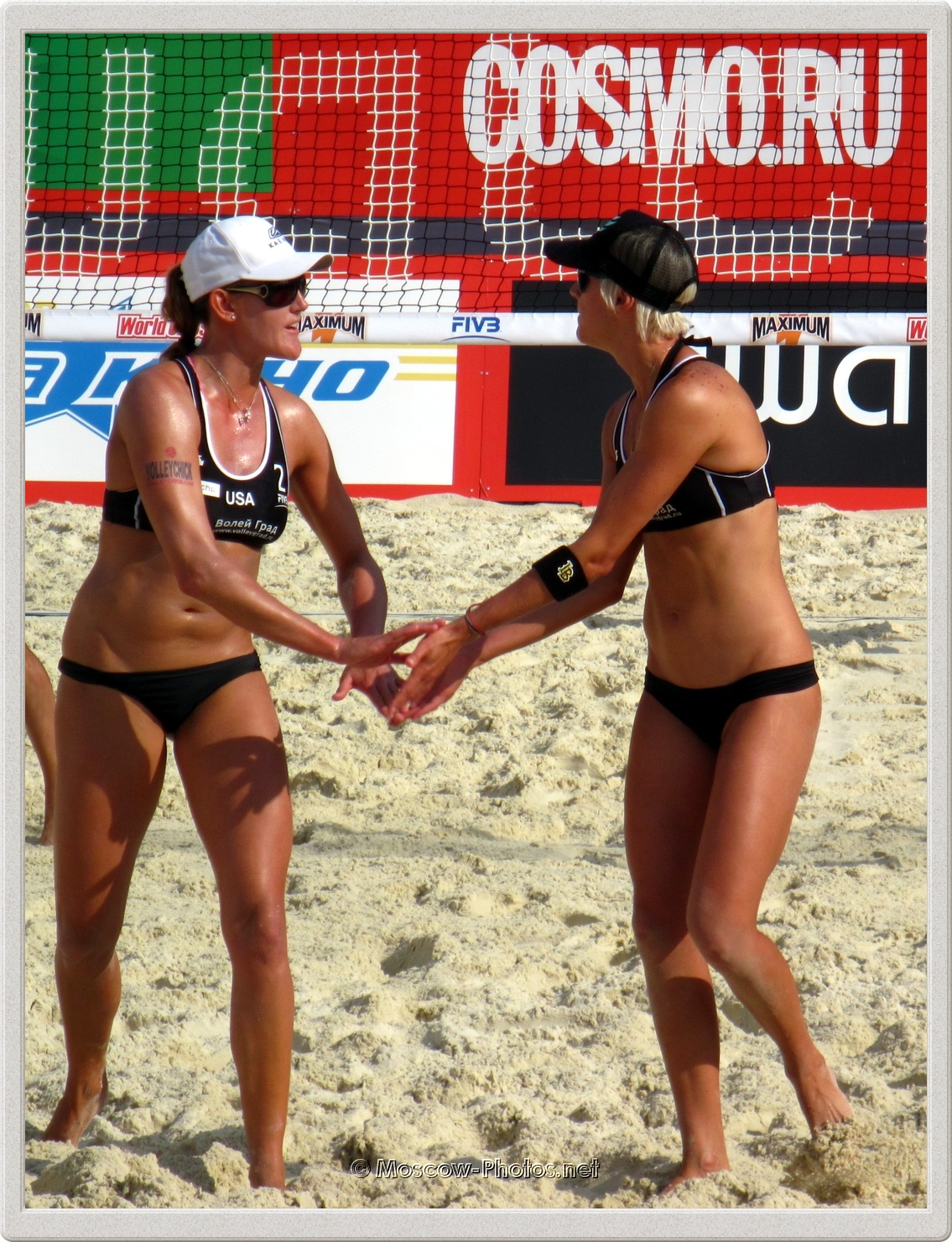 Beach Volleyball Players Lisa Rutledge & Brittany Hochevar