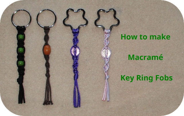 How to make Macramé Key Ring Fobs