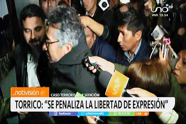 Gustavo Torrico presenta acción de libertad por aprehensión ilegal