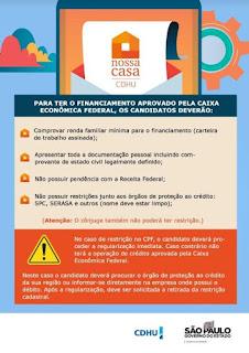 Inscrições para o sorteio de moradias populares da CDHU em Cajati