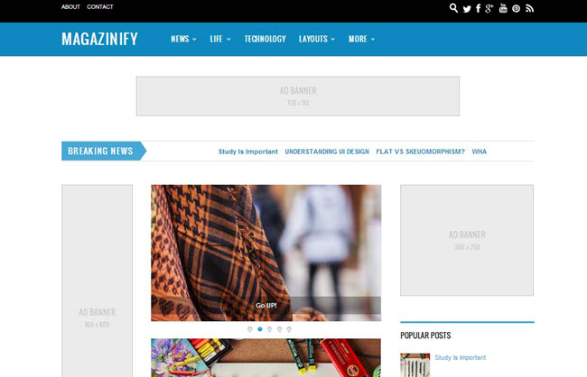 Magazinify - Responsive Blogger Template