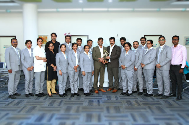 Columbia Asia Hospital Hebbal conferred with 'Best Green Hospital Award' under the Social Footprint category of the Express Healthcare Excellence Awards 2019