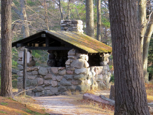 CCC shelter on the Island Trail Ludington State Park