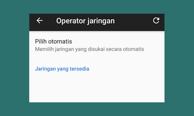 Pencarian Jaringan Otomatis