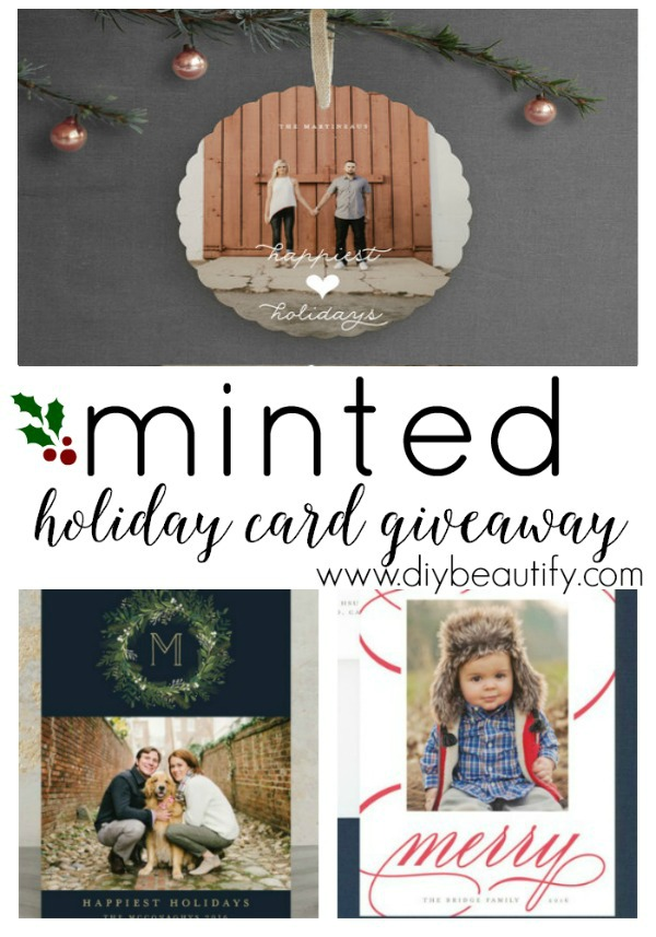 Minted Christmas cards giveaway
