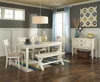 Attractive farmhouse dining room furniture and decorating idea