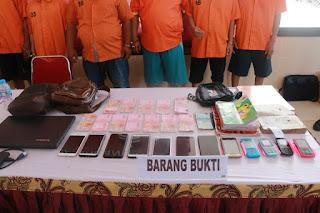 Sembilan Orang Beserta BB Belasan Juta Rupiah Hasil Judi Togel Diamankan Ditreskrimun Polda Kepri