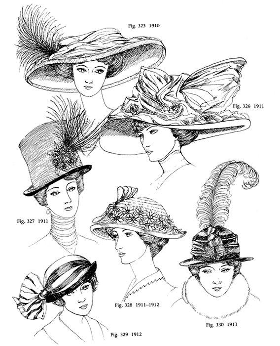 vente en ligne frais frais magasiner pour les plus récents Images d'autrefois: Images anciennes, mode, chapeaux