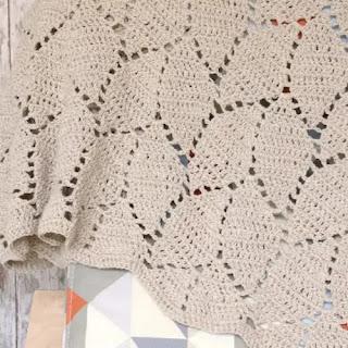 Manta Hojas a Crochet