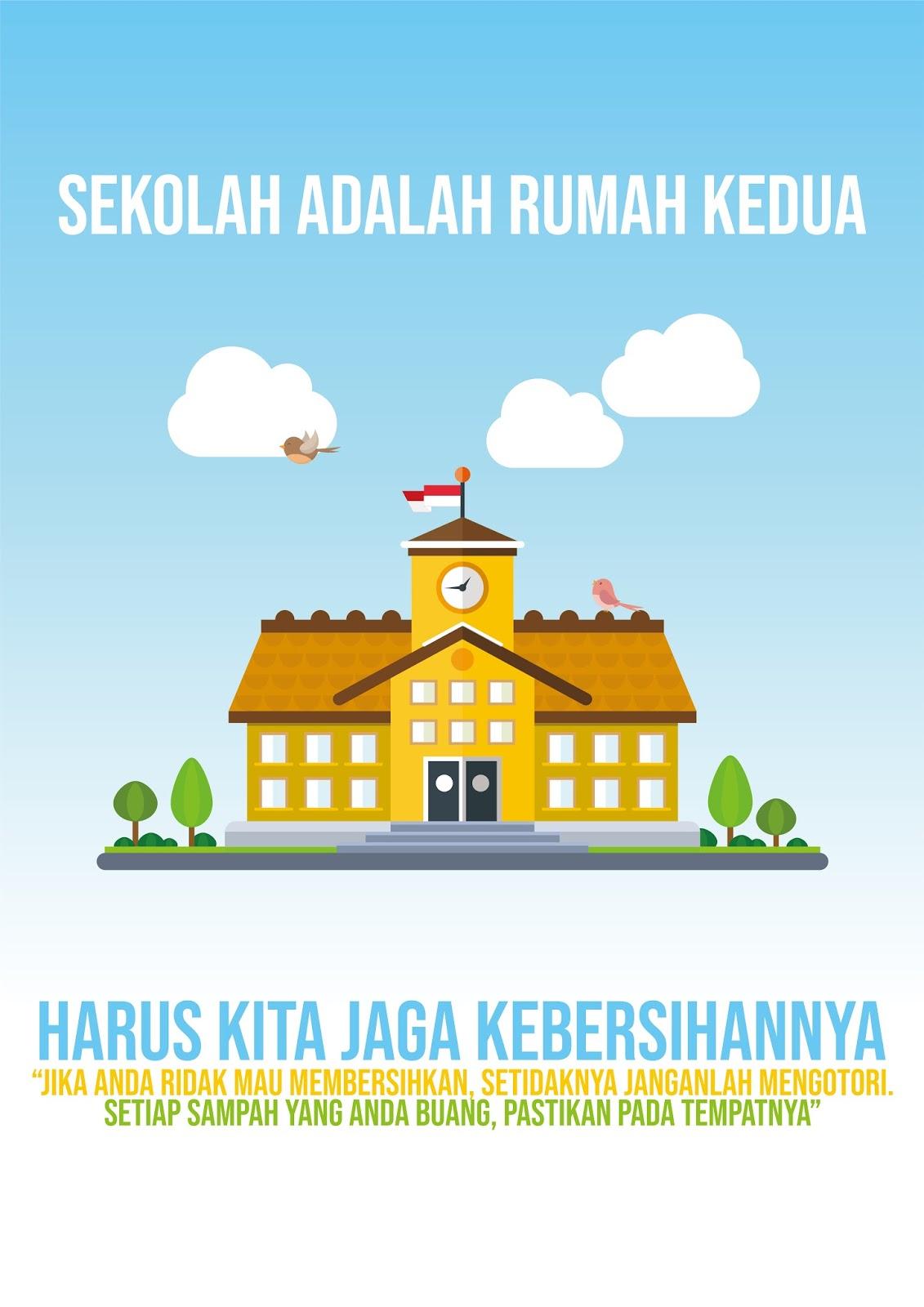 Contoh Poster Lingkungan Sekolah