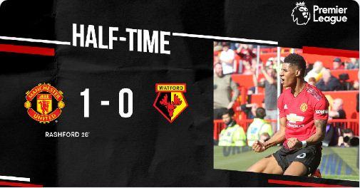 HT: Manchester United vs Watford 1-0