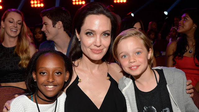 Angelina Jolie moved with the children to London