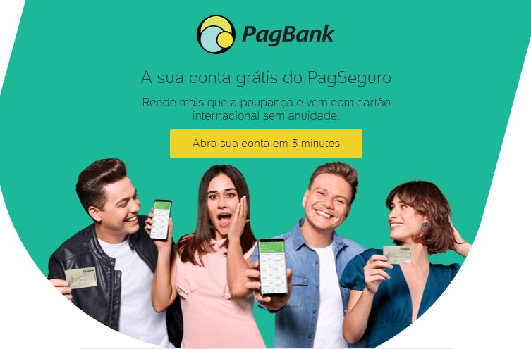abrir conta gratis pagbank pagseguro