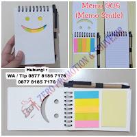Souvenir Memo Smile 906, Jual Memo Smile 906, Blocknote Promosi