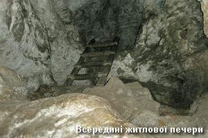 Всередині житлової печери