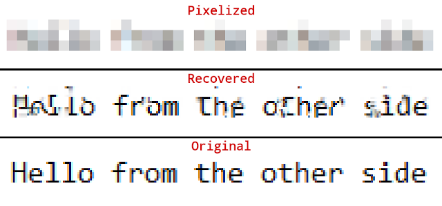 Depix – Recovers Passwords From Pixelized Screenshots