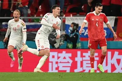 ملخص واهداف مباراة الدنمارك وروسيا (4-1) كاس امم اوروبا