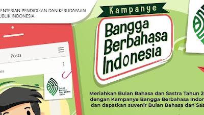Kampanye Bangga Berbahasa Indonesia Berhadiah Suvenir dari Badan Pengembangan dan Pembinaan Bahasa
