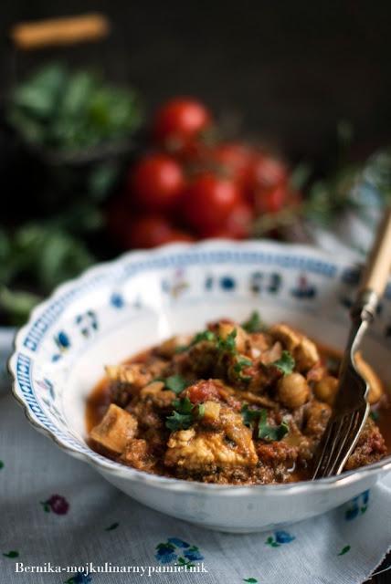 indyk, curry, dieta, hashimoto, tarczyca, pomidory, indyjska kuchnia, bernika, kulinarny pamietnik