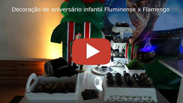 Vídeo decoração de futebol Fluminense