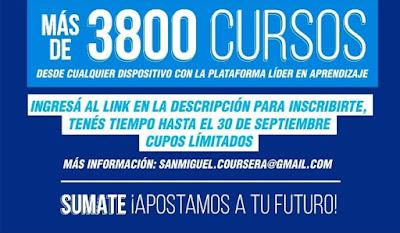 San Miguel: más de 3.800 cursos gratuitos. 001