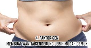 Faktor Gen membuat Wanita cenderung lebih mudah gemuk