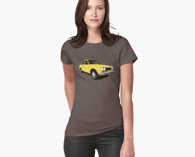 Yellow retro car Datsun Bluebird 1600 510 t-shirt
