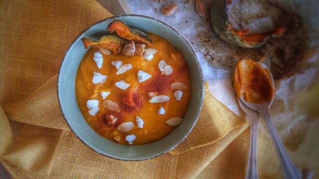 crema alla zucca con paprica