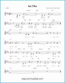 chord am i blue lagu jazz standar