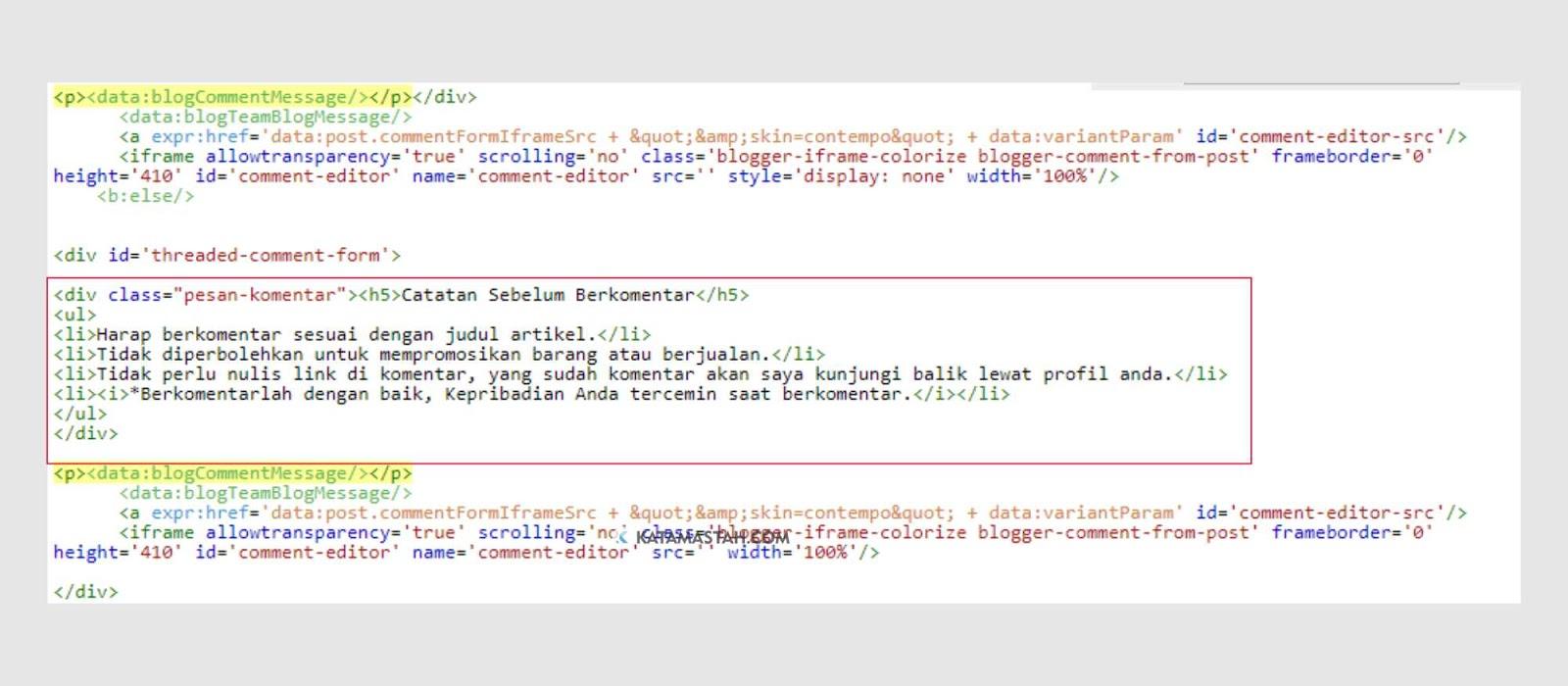 Cara Modifikasi Tampilan Pesan Komentar Pada Blog Cara Modifikasi Tampilan Pesan Komentar Pada Blog